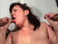 Grosses sexy en lingerie baise