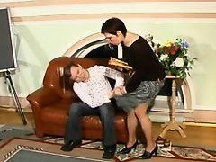 mature teacher & pupil