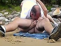 michael gives head at the beach