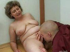 Russian Granny And Boy 208