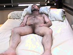 Wonderful hairy male masturbating