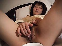 Japanese Amateur Pussy Playing Konnyaku