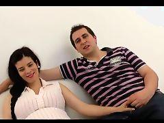 Pregnant threesome.