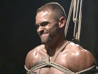 asian master beats his gay hunk slave