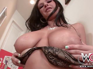 wcp club hot busty brunette riding big black dick