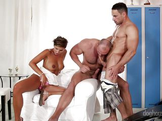 bi curious latin muscle hunk experiments with couple