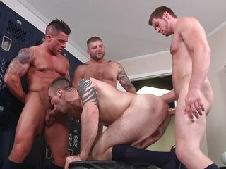 gay gangbang turns wild and dirty