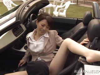 watch these asian sweethearts have fun outdoors