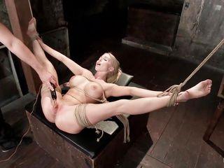 sex slave gets her clit shocked