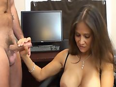 cum on brunette milf