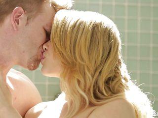 hot blonde gets orgasm in shower