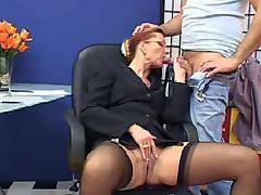 19-6-15 Red head nylon Sexetary 1