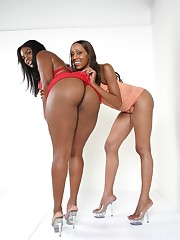 Hot ebony beauties getting it on with each other