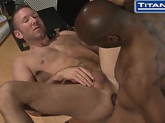 Hot Black Daddy Fucks His Coworker
