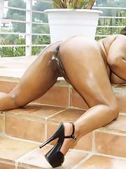 Big Boob BBW Black Amateur Loving Dick
