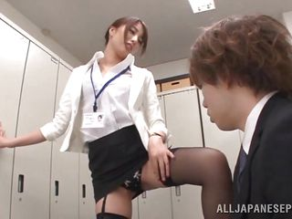 japanese office slut sucks off her boss