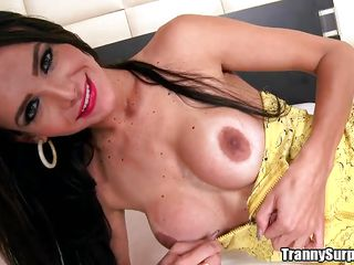 sexy tranny bounces on a stiff cock