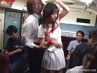 japanese slut gets fucked on the bus
