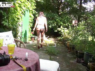 fun movies mature cumming in the garden