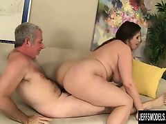 Pretty plumper Angel DeLuca gets fucked so good