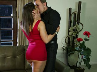 hot abella strips for her man