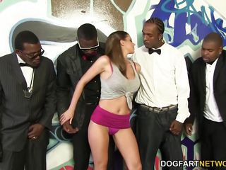 brooklyn chase gets ganbanged at interracial blowbang