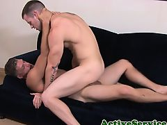 Muscular sailors ass getting rammed raw