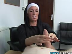 Real brit nun punishing hard cock