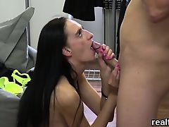 Striking czech nympho was seduced in the mall and plowed in