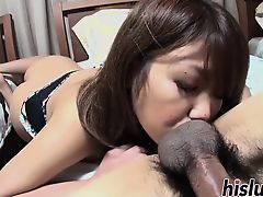 Kinky Asian minx receives a creampie