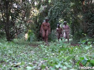 nude soldiers learn about dual camouflage