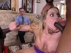 Cheater wife fucked in all holes by blacks in front of