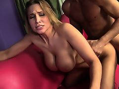 Alanah Rae's huge boobs jiggle with every thrust of cock in her pussy
