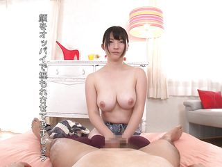 hot handjob and a titwank from a busty japanese cutie