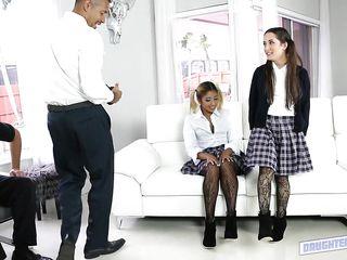 lesbian schoolgirls need older man cock