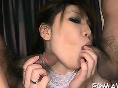 Tantalizing japanese blow job
