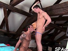 Provocative homosexual oral stimulation