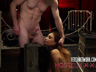 bound babe pays the price for her stay