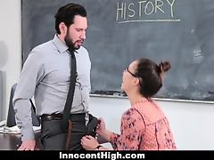 InnocentHigh - Hot SchoolGirl Fucks Her WAY Out Of Trouble