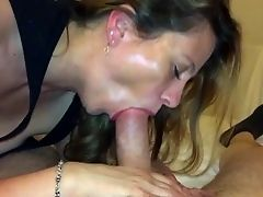 Sexy wife sucking cock until he explodes in her mouth