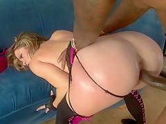 Fabulous pornstar Sierra Miller in horny lingerie, creampie sex clip