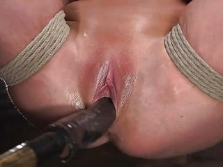 busty milf was suspended and fucked