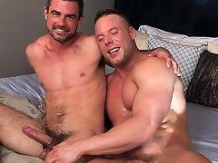Big dick bodybuilder anal sex and facial