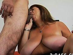 Playful fat girl seduces fellow to gangbang her very well