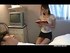 Japanese girl gives him a blowjob and then meets doctor for more