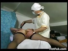 Mature fatty gets her cunt fisted part5