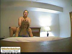 Naughty wife homemade sex