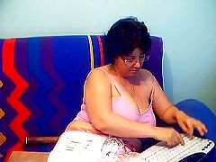 Granny in a Webcam