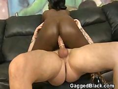 Black Ghetto Slut Interracial Anal Pounding