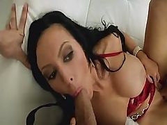 Jenna Presley and Lexi Swallow fucked on couch